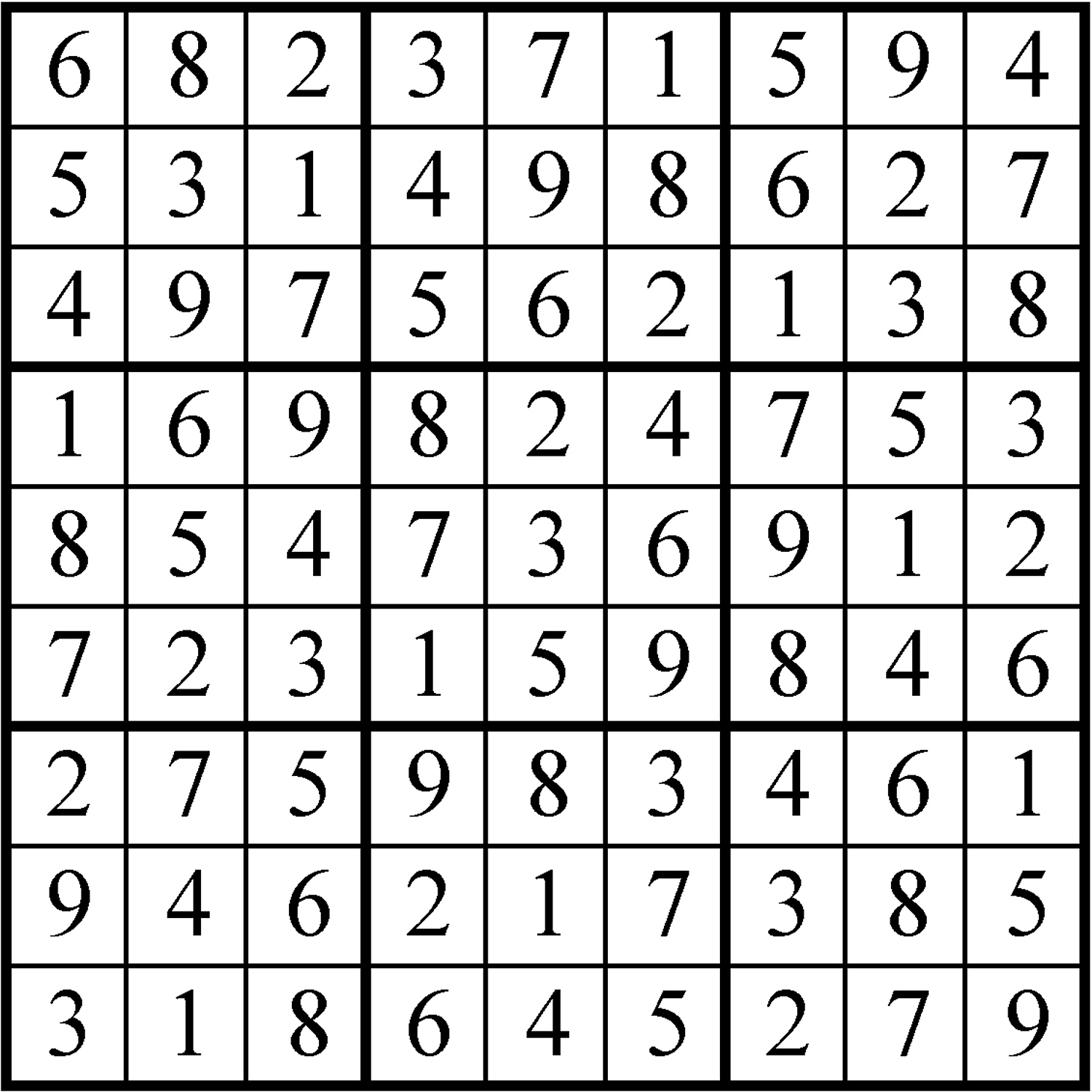 Sudoku Answers For Nov 18