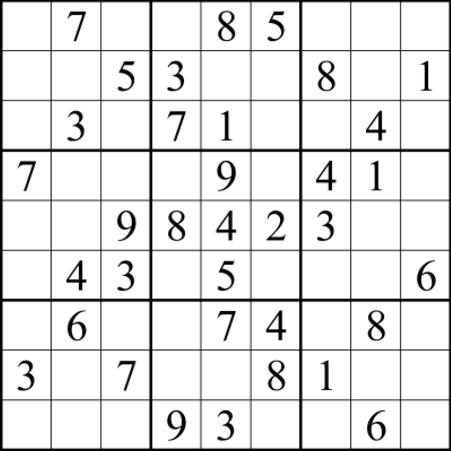 Sudoku Answers For Jan 13
