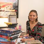 Kimberly Moffitt in her office