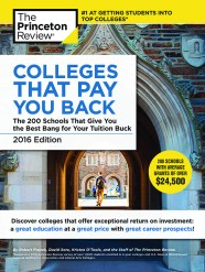"""Princeton Review """"Colleges That Pay You Back"""" 2016 cover"""