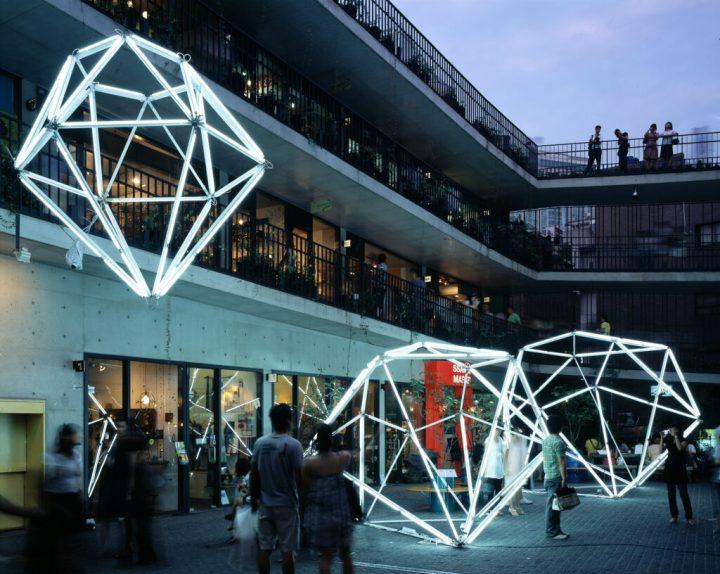 Diamonds: Will You Marry Me? light installation