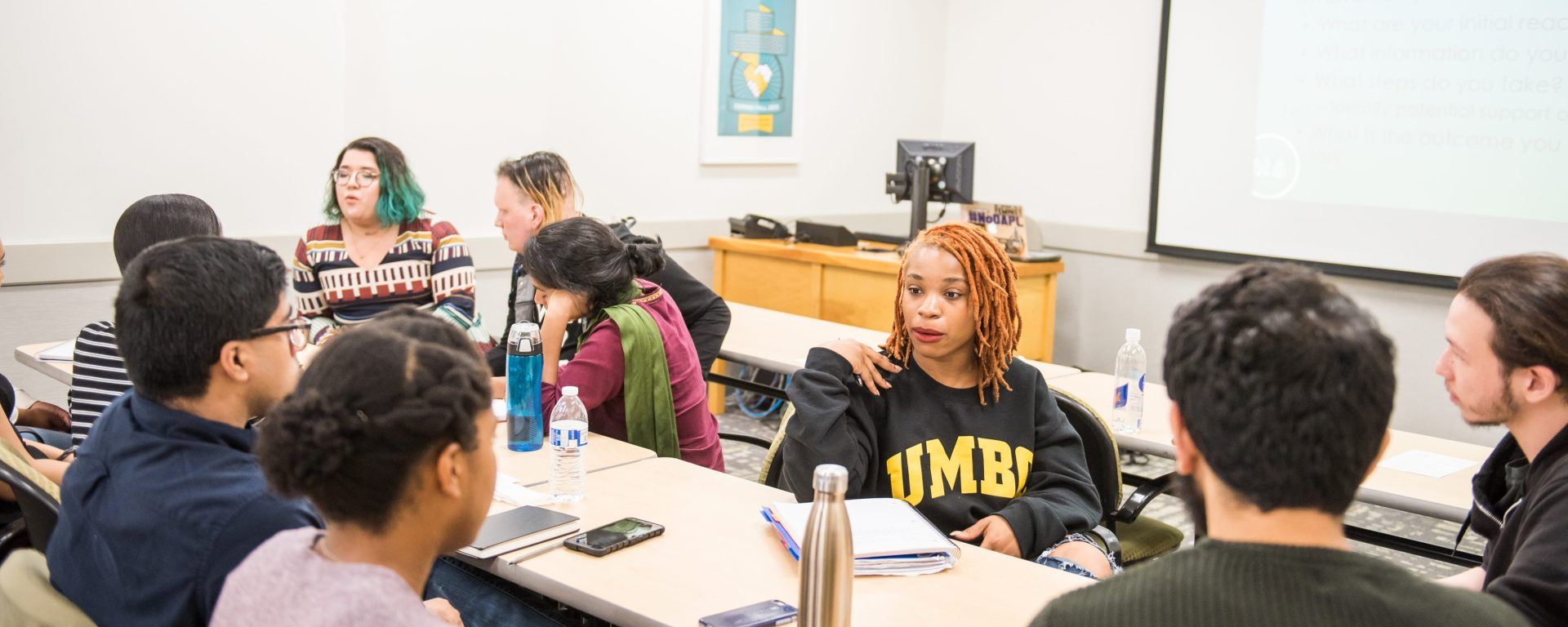 Dr. Adrienne Keene workshops with members from the UMBC community.