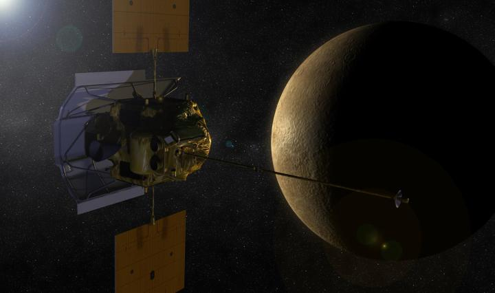 Spacecraft and planet