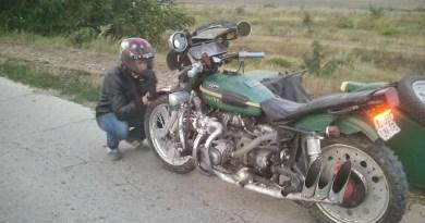 Foto, Video // Un bărbat din Ungheni a uimit lumea după ce și-a echipat motocicleta URAL cu un turbocompresor