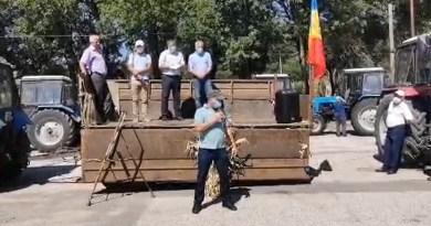 LIVE // Protestul pașnic al agricultorilor din raionul Ungheni