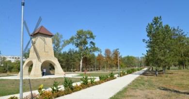 Parcul central din orașul Nisporeni va fi iluminat cu un sistem modern