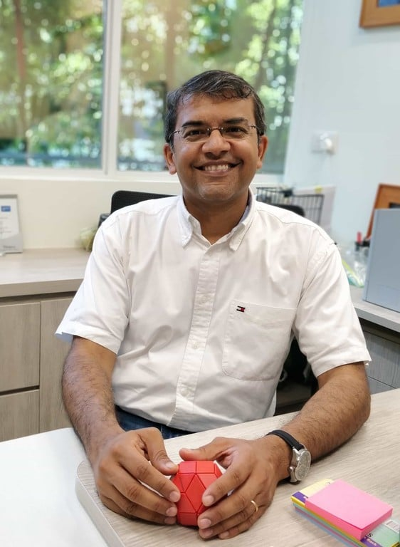 Anand at desk