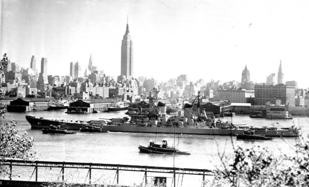 USS Iowa in New York - U.S. Naval Institute Archive