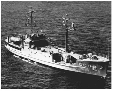 USS Pueblo at sea, 1967