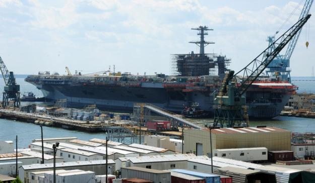 USS Theodore Roosevelt undergoing a complex overhaul in 2011 at Newport News, Va. U.S. Navy Photo