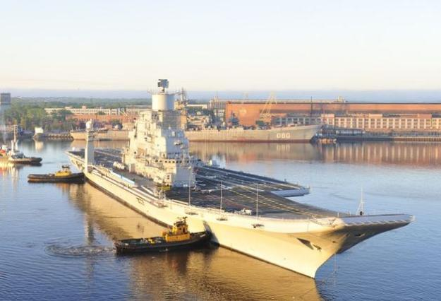 INS Vikramaditya in June 2012. Sevmash Photo