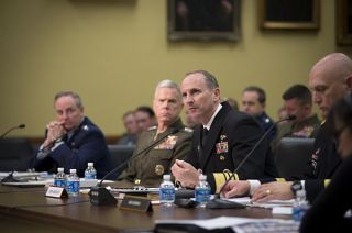 Chief of Naval Operations (CNO) Adm. Jonathan Greenert testifies before the House Appropriations Subcommittee on Military Construction, Veterans Affairs and Related Agencies about the devastating affects of the continuing resolution and sequestration on military readiness. US Navy Photo