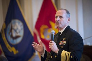 Adm. Jonathan Greenert addressing a crowd in March. US Navy Photo