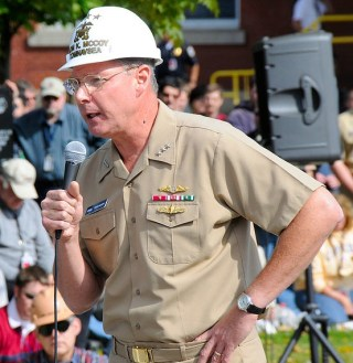 Commander Naval Sea Systems Command, Vice Adm. Kevin McCoy in 2008. US Navy Photo