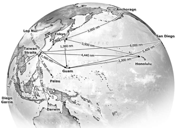 Distances in the Pacific Ocean. CSBA Illustration.