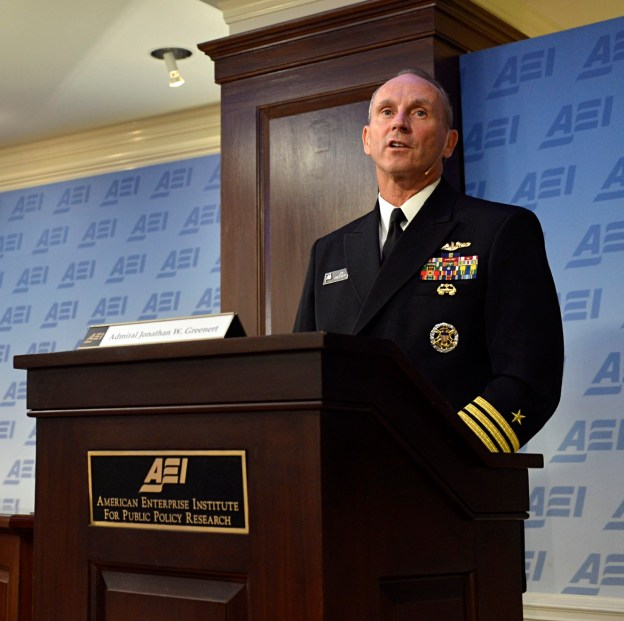 Chief of Naval Operations (CNO) Adm. Jonathan Greenert speaks at the American Enterprise Institute on Sept.5, 2013. US Navy Photo
