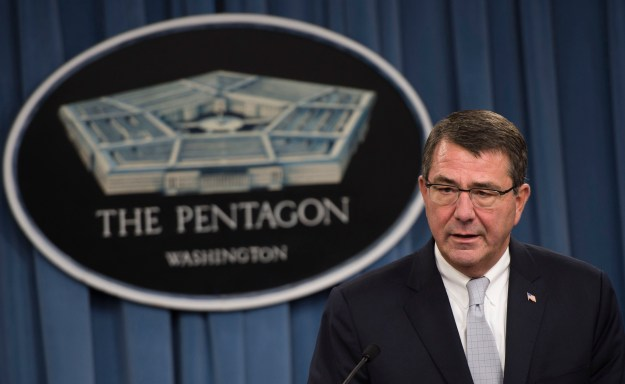Then Deputy Secretary of Defense Ashton Carter briefs the press at the Pentagon in Arlington, Va., on Sept. 25, 2013. DoD Photo