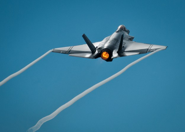 An F-35C Lightning II aircraft on Aug. 14, 2013 at Eglin Air Force Base, Fla. US Navy Photo