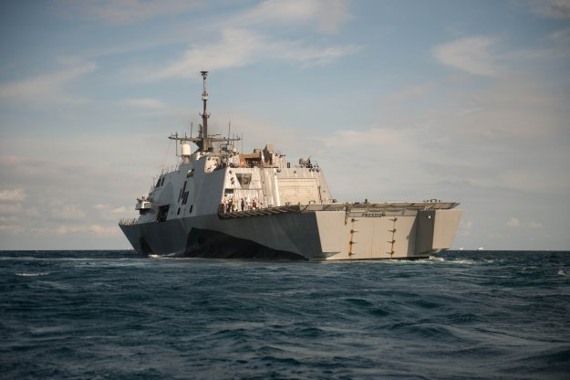 USS Freedom (LCS-1) underway in August 2013. US Navy Photo