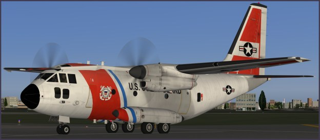 An artists concept of the Coast Guard livery on the C-27J Spartan.