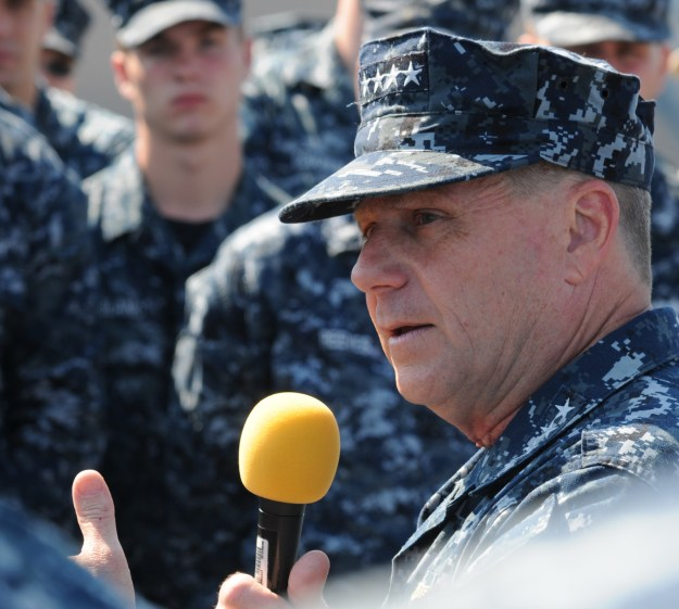Adm. Bill Gortney, commander of U.S. Fleet Forces in May, 2013. US Navy Photo