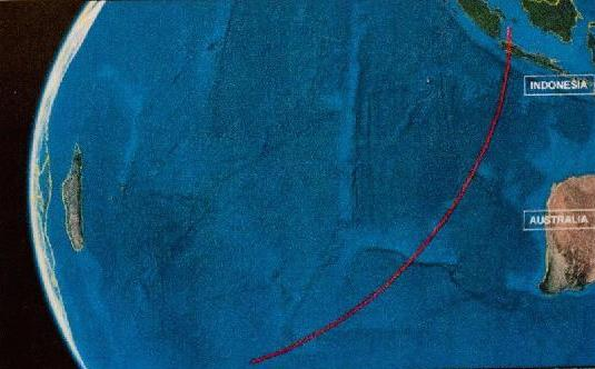 The Southern Corridor of the Flight 370 search effort. Xinhua Photo