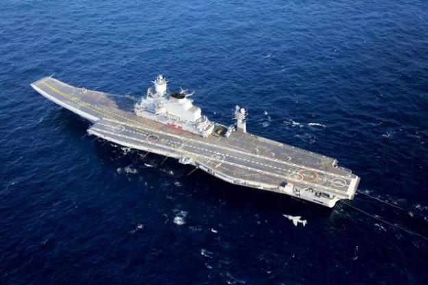 INS Vikramaditya on Jan. 6, 2014. Indian Navy Photo