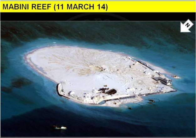 The site of alleged reclamation. Philippines Government Photo