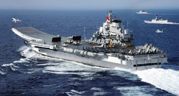 China's carrier Liaoning, PLAN Photo