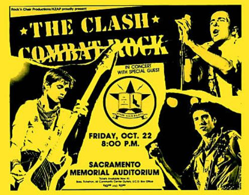 A poster as part of The Clash's Combat Rock Tour
