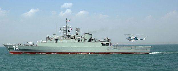 Iranian Navy frigate Jamaran. Iranian Navy Photo