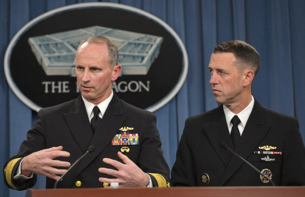 Chief of Naval Operations Navy Adm. Jonathan Greenert and Navy Adm. John Richardson, director of the Naval Nuclear Propulsion Program. DoD Photo