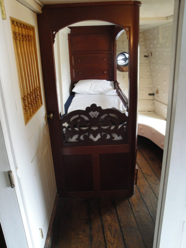 One of two mirror image cabins for the ship's captain or an embarked commodore. Glenn Moyer Photo