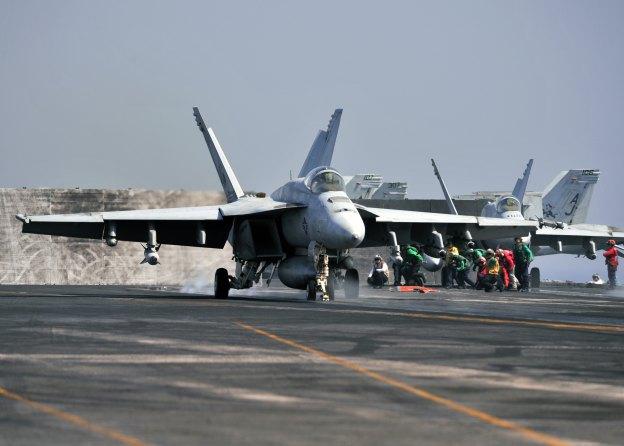 U.S. Fighters Strike ISIS Near Mosul Dam