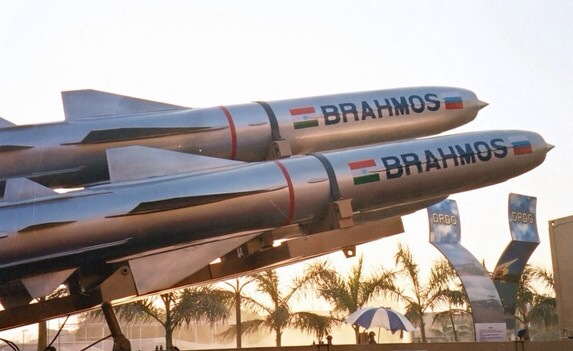 Undated image of the BrahMos missile system.