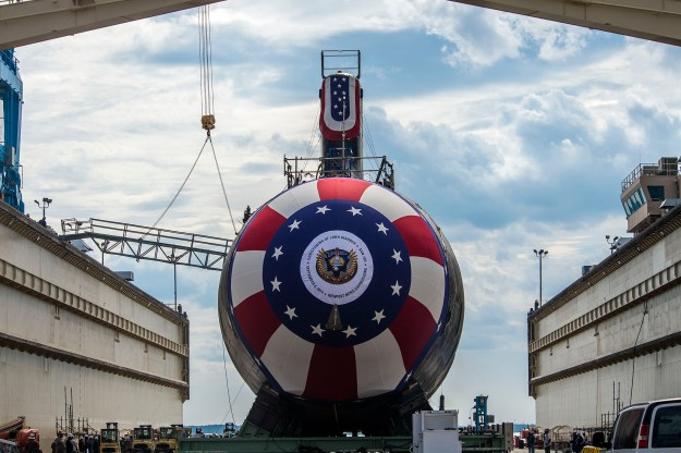 Virginia-class attack submarine Pre-commissioning unit (PCU) John Warner (SSN 785) on Sept. 1, 2014. US Navy Photo