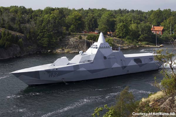 Swedish Navy Visby-class corvette