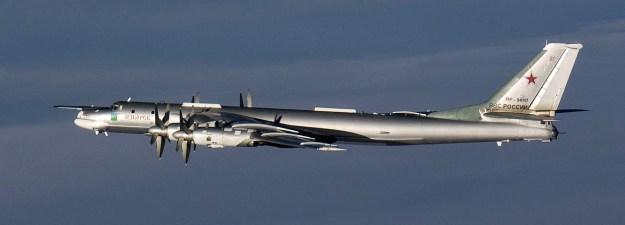 Undated photo of a Tupolev Tu-95 Bear Bomber. Finnish Defense Forces Photo