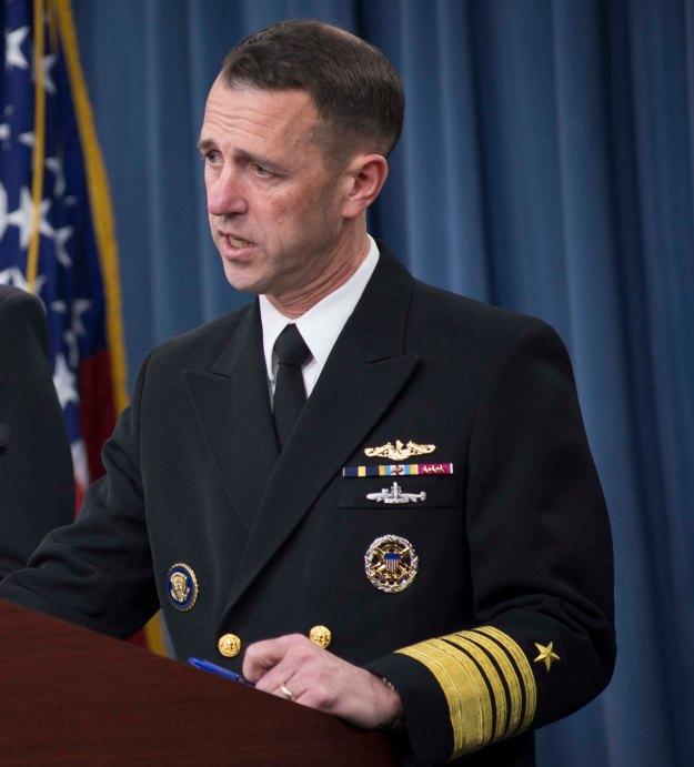 Director of the Naval Nuclear Propulsion Program Adm. John Richardson on Feb. 2, 2014. US Navy Photo