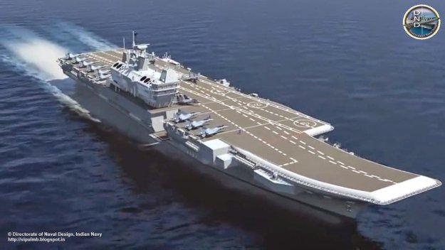 An artist's conception of INS Vikrant. Indian Navy Image