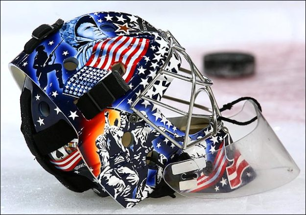 Mask of New York Islanders goalie Rick DiPietro
