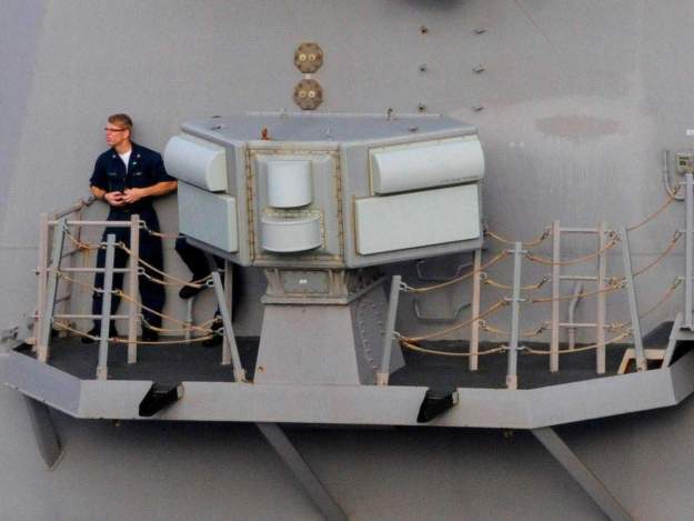 "AN/SLQ-32 ""Slick 32"" on a destroyer in 2009. US Navy Photo"