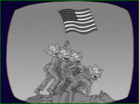 "ndicative of its relevance as a cultural touchstone, the Iwo Jima pose has been referenced on The Simpsons at least six times – ""New Kid on the Blecch,"" ""Selma's Choice,"" ""LargeMarge,"" ""Rosebud,"" ""Half Decent Proposal,"" and ""Mr. Spritz Goes to Washington."""
