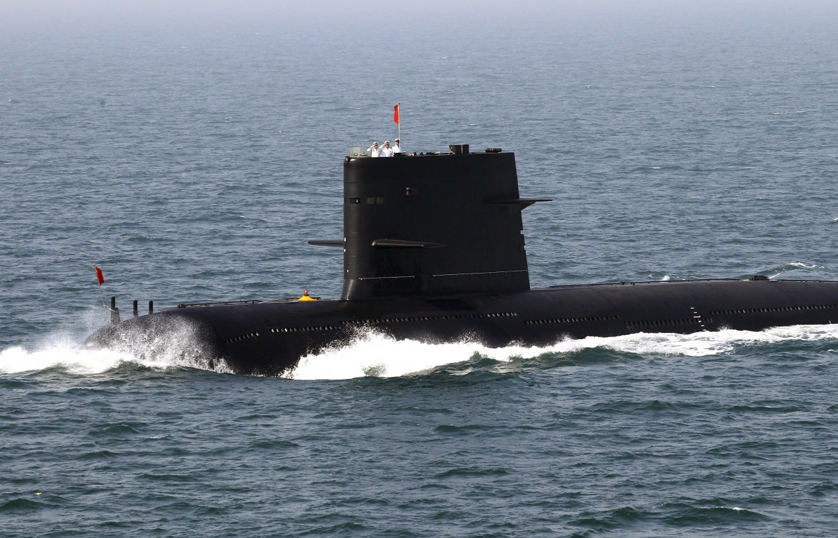 Undated photo of Chinese submarine