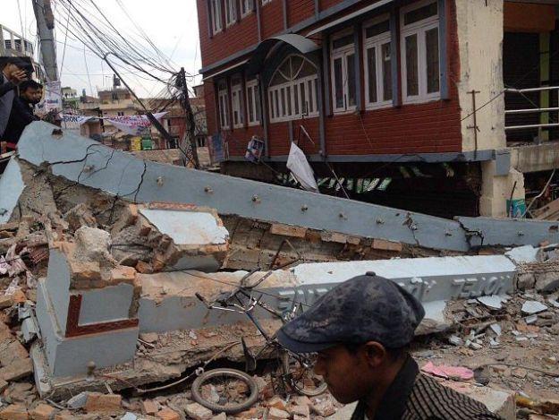 Destruction in Katmandu on April 26, 2015. Photo by Krish Dulal