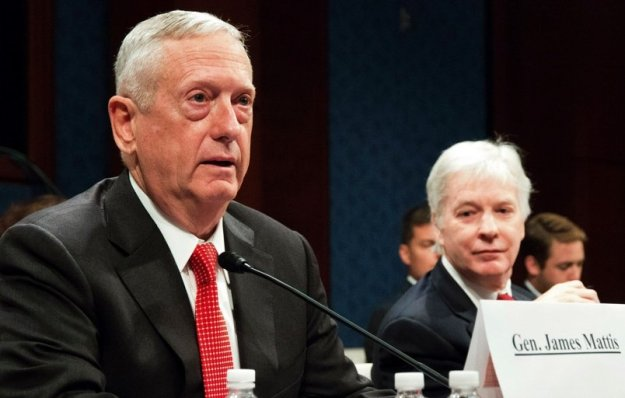 Retired Marine Corps Gen. James Mattis testifies at a hearing of the House Permanent Select Committee on Intelligence at the U.S. Capitol on Sept. 18, 2014. Stars and Stripes Photo