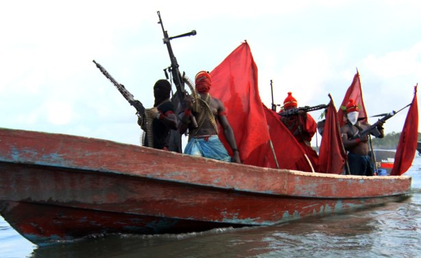 Niger Delta militants. Photo via Premium Times