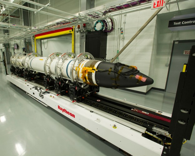 Final assembly of the Raytheon-made Standard Missile-3 Block IIA round used in testing took place at the company's Redstone Missile Integration Facility in Huntsville, Ala. Raytheon photo.