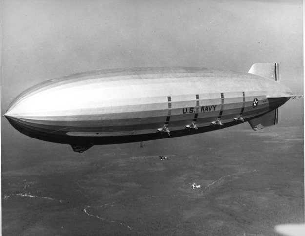 USS Macon (ZRS-5) in 1933 or 1934.