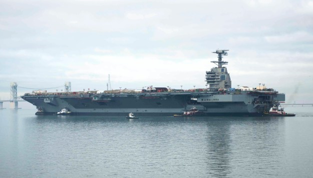Carrier Ford's Maiden Deployment Could Face 2-Year Delay Due to Shock Trials